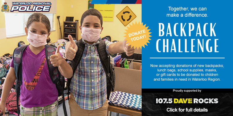 WRPS Backpack Challenge 2021 – Supported by 107.5 Dave Rocks