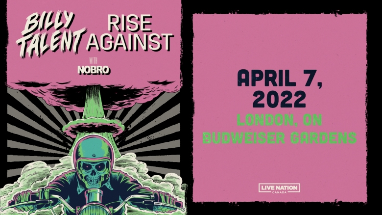 Billy Talent & Rise Against are coming to Budweiser Gardens!