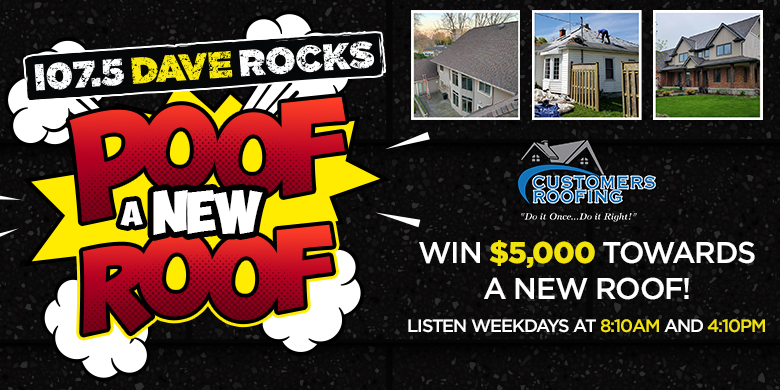 Poof A New Roof with 107.5 Dave Rocks!